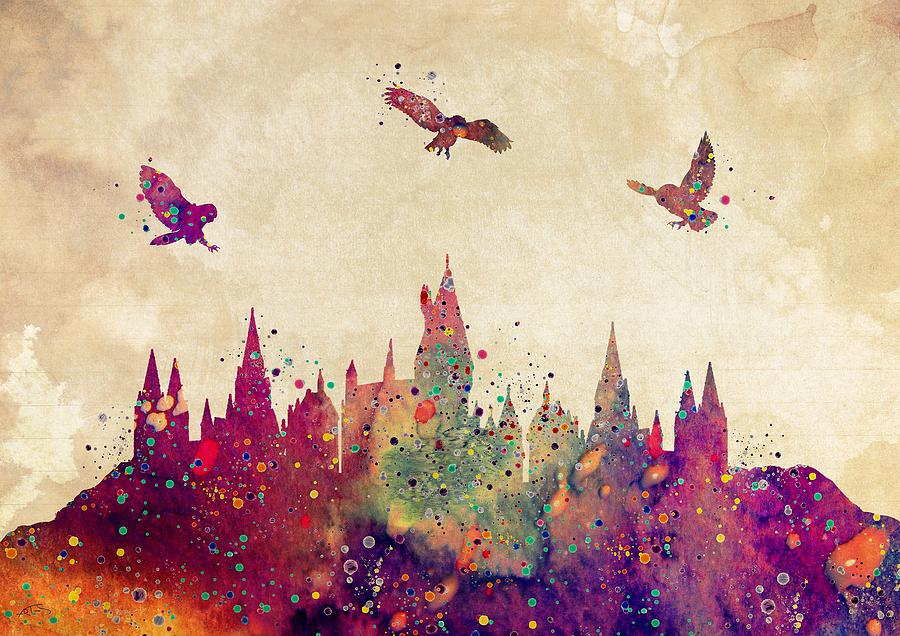 Book Cover Watercolor Paintings : Quot one shots chapter hogwarts library