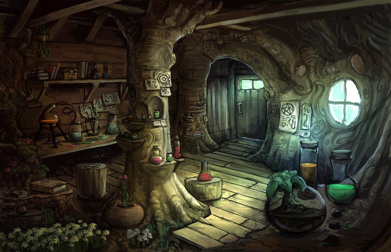 выполняют ведьмин дом рисунок двух галерах